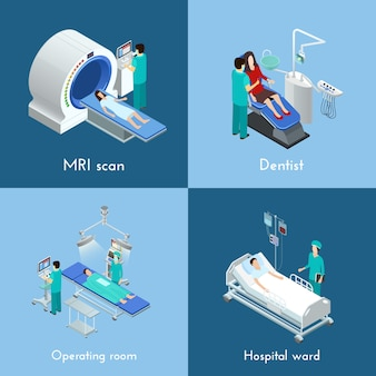 Elementi isometrici attrezzature mediche