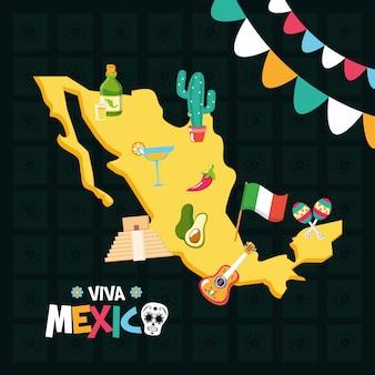 Elementi messicani per viva mexico