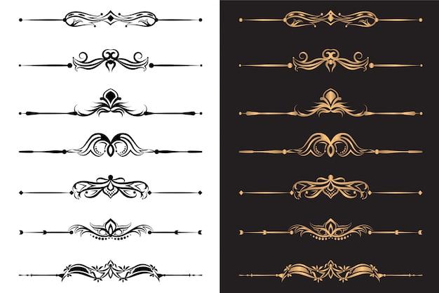 Elementi ornamentali di lusso e set decorativo divisore
