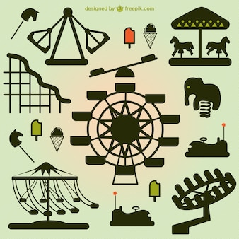 Elementi parco divertimenti vettore