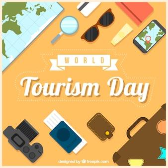 Elementi per il viaggio, giorno del turismo mondiale