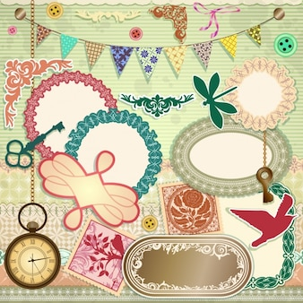 Elementi scrapbooking set