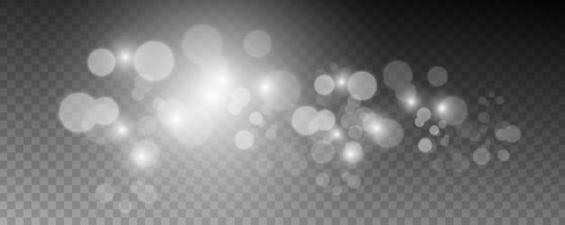 Elementi sfavillanti di luce sfocata.