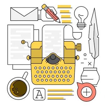 Elementi vettoriali lineari di tipo scrittura a macchina