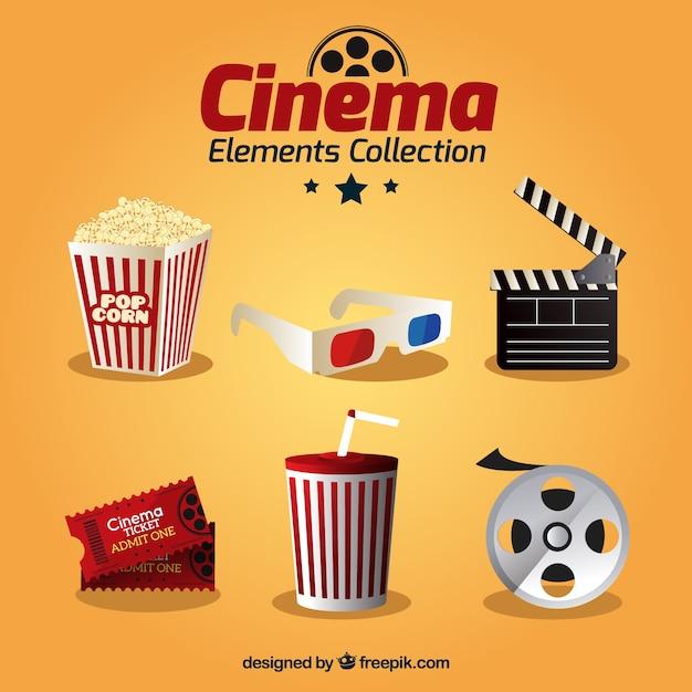 Elemento collezione di film realistico