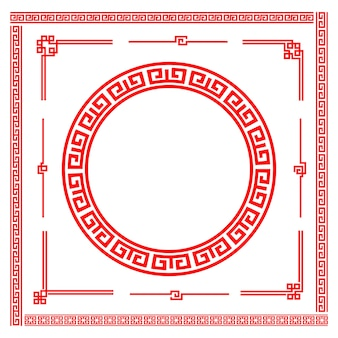 Elemento cornice in stile arte cinese