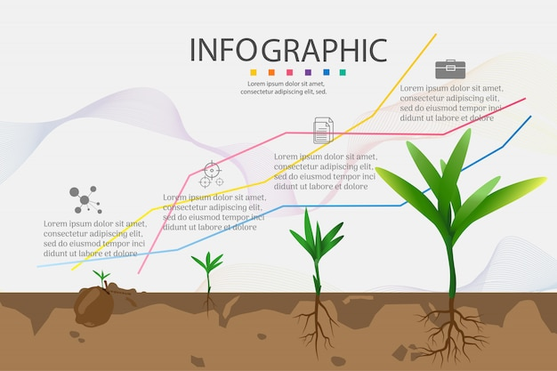 Elemento del grafico infographic di opzioni di modello di progettazione 4 affari.