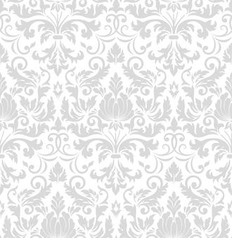 Elemento del modello senza cuciture damascato. ornamento damascato vecchio stile di lusso classico