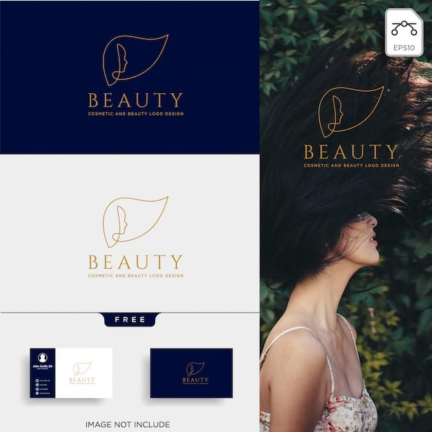 Elemento dell'icona di vettore logo linea arte estetica di bellezza