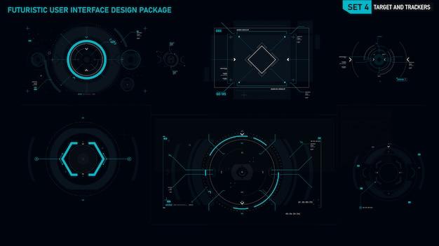 Elemento dell'interfaccia utente futuristico