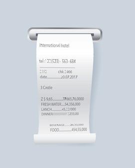 Elemento di controllo stampa carta