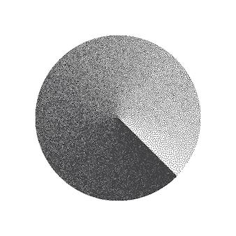 Elemento di design a forma di cerchio punteggiato minimalista