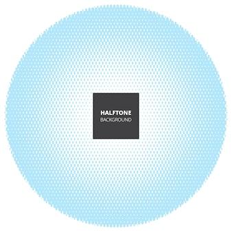 Elemento di design astratto mezzetinte, su sfondo bianco