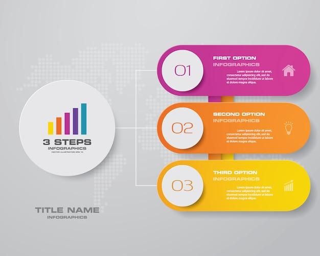 Elemento di design grafico infografica per la presentazione dei dati.