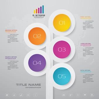 Elemento di design grafico infografica