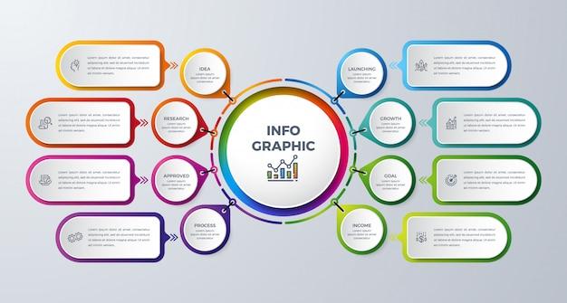 Elemento di design infografico