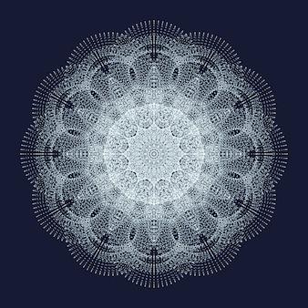 Elemento di disegno astratto con particelle.