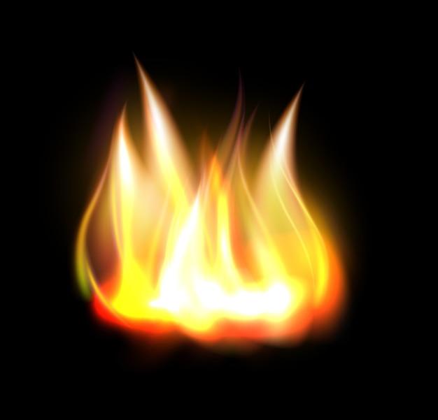 Elemento di fiamma fuoco ardente realistico