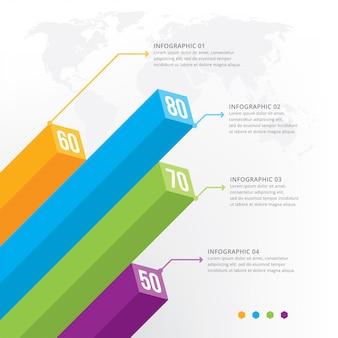 Elemento di infografica 3d