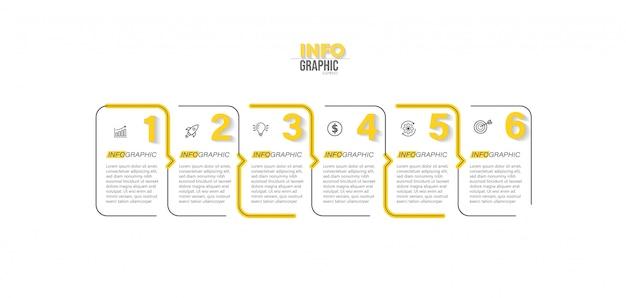 Elemento di infografica con illustrazione di passaggi