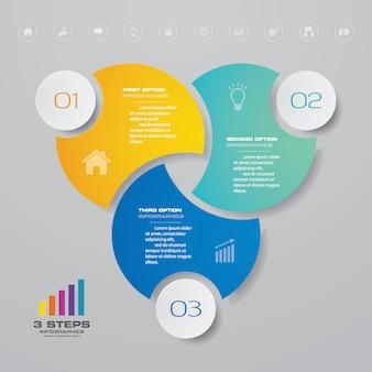 Elemento di infografica grafico di presentazione.