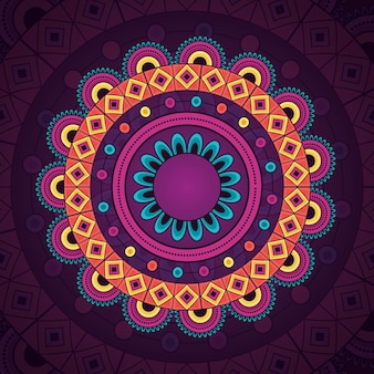 Elemento etnico decorativo vintage mandala