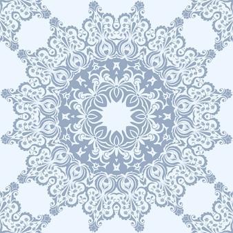 Elemento floreale senza cuciture in stile arabo