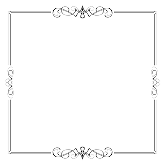 Elemento frame divisore bordo calligrafico