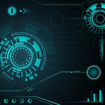 Elemento futuristico hud isolato su sfondo scuro. interfaccia utente hi-tech.