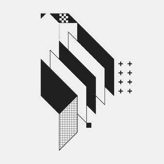 Elemento geometrico astratto su sfondo bianco. utile come copertina cd, stampa o poster.
