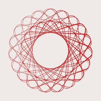 Elemento geometrico circolare astratto