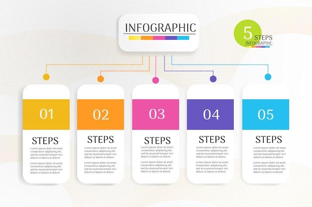 Elemento grafico di infografica modello di business design.