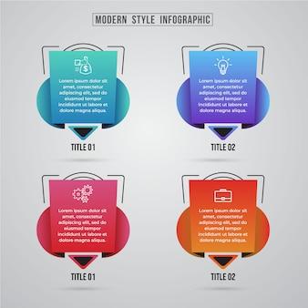 Elemento grafico di informazioni di stile di tecnologia moderna
