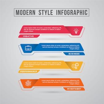 Elemento grafico di informazioni di stile moderno