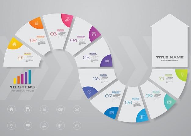 Elemento grafico freccia infografica.