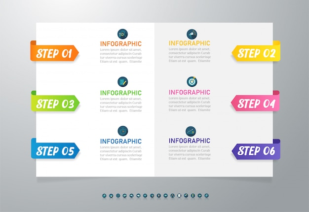 Elemento grafico infografica modello di business.