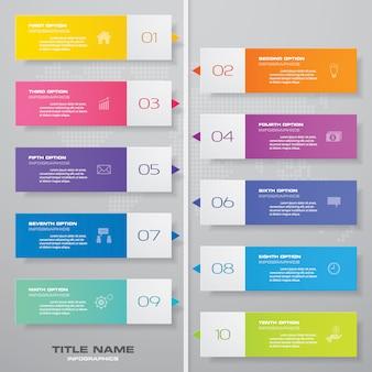 Elemento infografica grafico timeline.