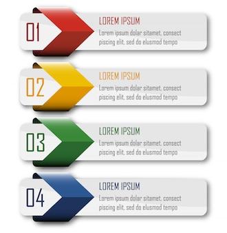 Elemento infographic di quattro punti