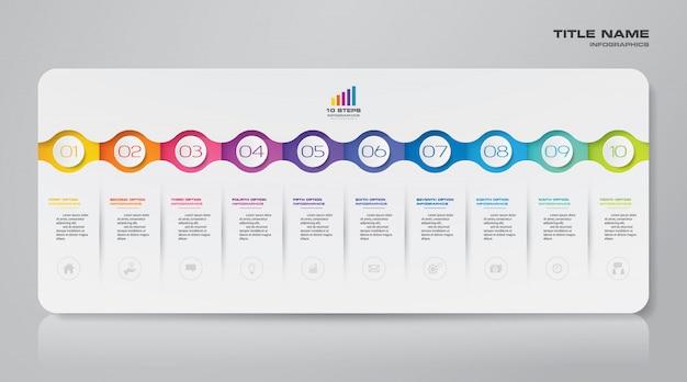 Elemento infographic grafico moderno