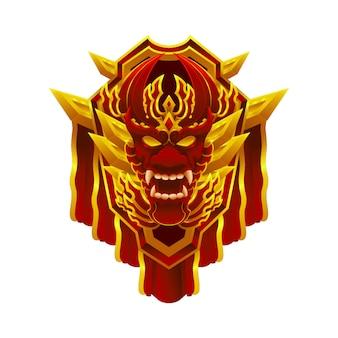Elemento oggetto badge emblema realizzazione drago per il gioco