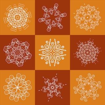 Elemento openwork per design, tessuto tovagliolo