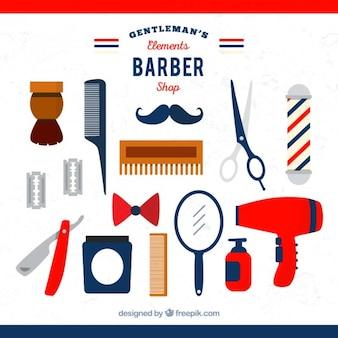 Elemento raccolta barbiere piatto