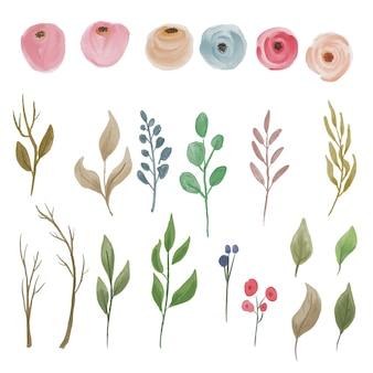 Elemento rosa dell'acquerello