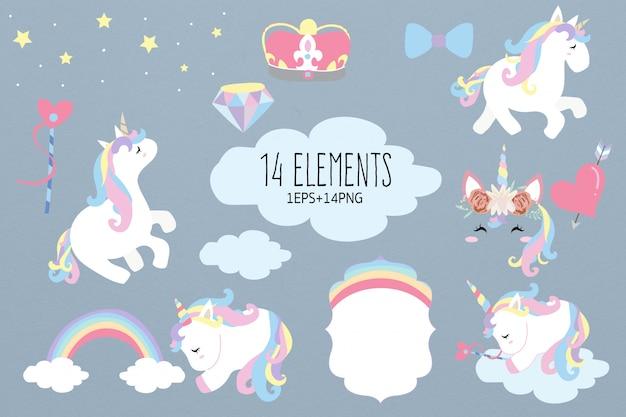 Elemento unicorno con sonno dell'unicorno