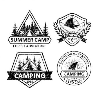 Elemento vettoriale di campeggio e avventura all'aria aperta