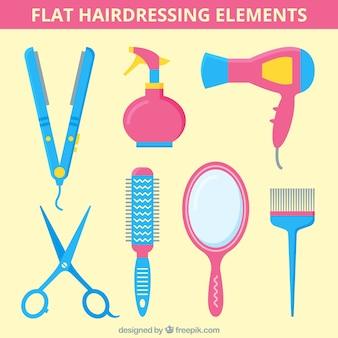 Elemnts parrucchiere piatte