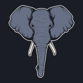 Elephant testa sfondo