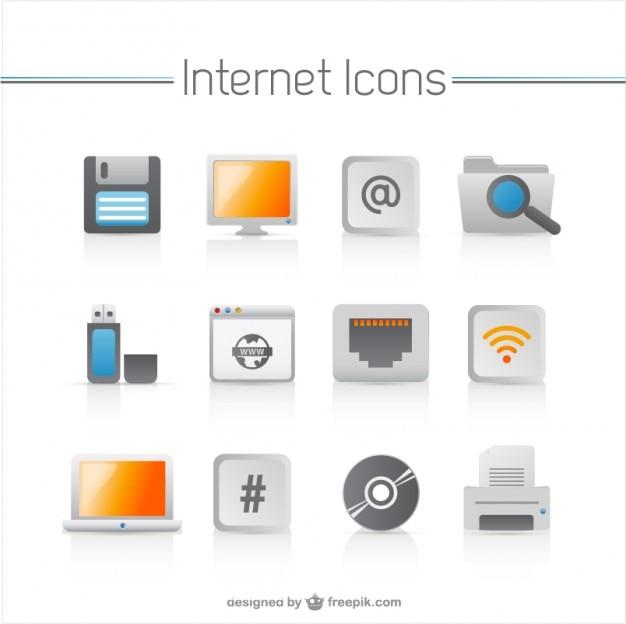 Elettrodomestici icone vettoriali