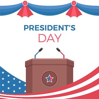 Elezioni presidenziali in design piatto