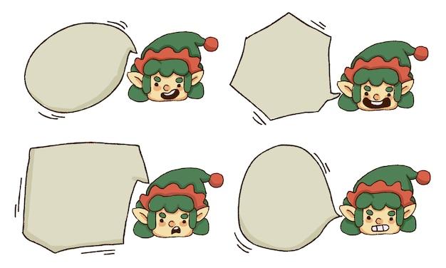 Elfo di natale con set di nuvoletta